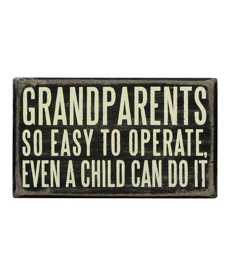 'Grandparents' Box Sign