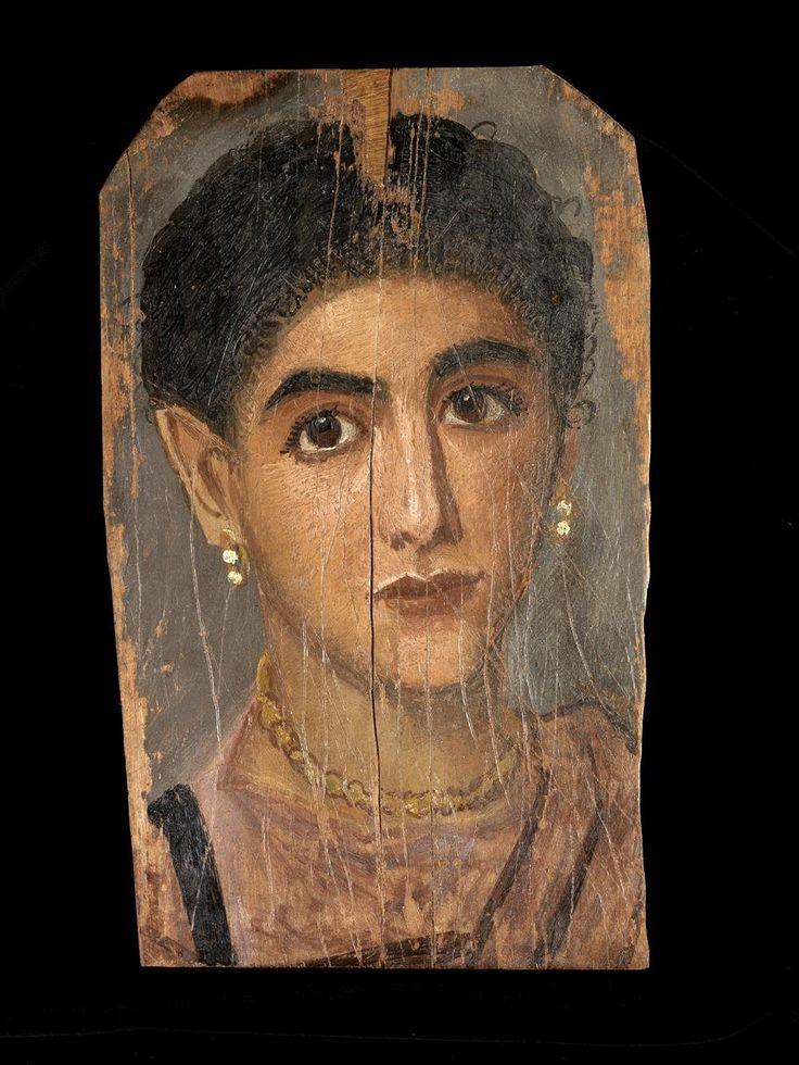 Retrato de mujer (c. 160-180 d.C.), probablemente de Tebas (Egipto). Madera de tilo pintada a la encáustica.