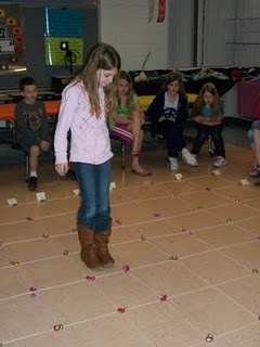 Teaching Coordinate Grids and Ordered Pairs. Students walk across the grid and then up the grid to get a piece of candy they wanted on the grid.