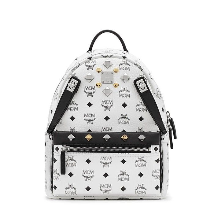 MCM Small Dual Odeon Stark Backpack In White