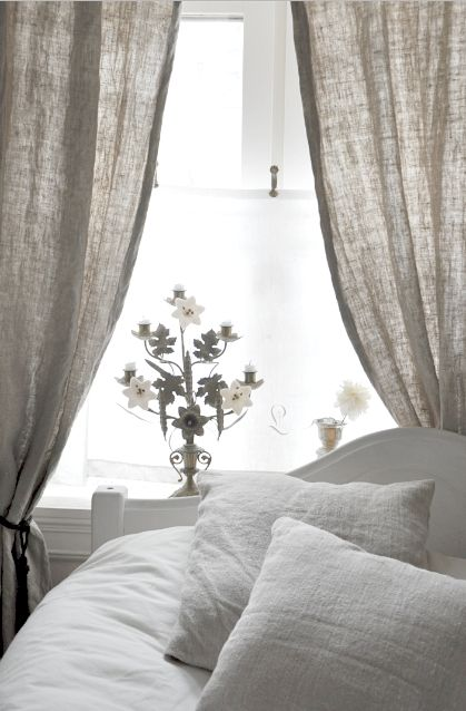love the way the light comes through the curtains farmhouse linen