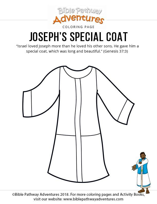 Bible Coloring Page Joseph S Coat Bible Coloring Pages Coat Of