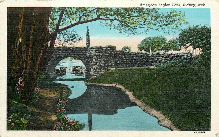 American Legion Park Sidney Nebraska Postcard | eBay