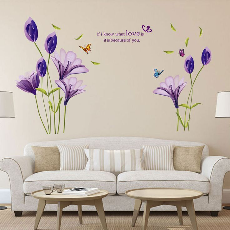 Purple Pollen Removable Wall Art Decal Sticker Diy Home: 83 Best Wall Decals Images On Pinterest