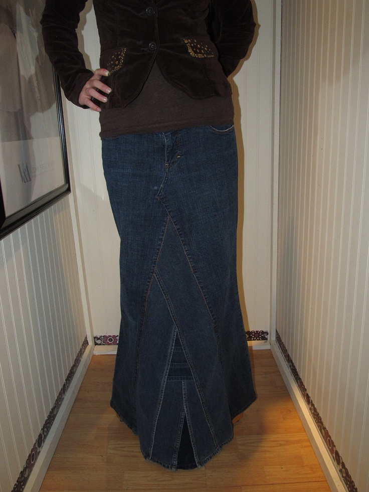 Ankle Length Jean Skirts