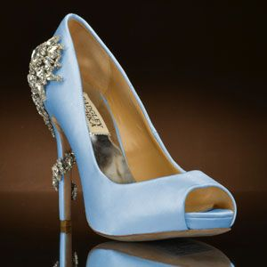 Trendy Shop designer Badgley Mischka wedding shoes at My Glass Slipper
