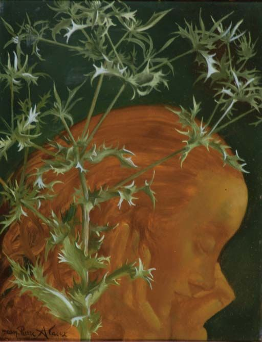 "poboh: "" Woman and thistle, Jean-Pierre Alaux. French, born in 1925 """