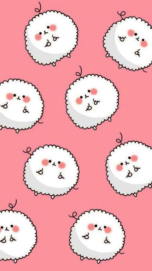 Cute Kawaii Sheep Wallpaper