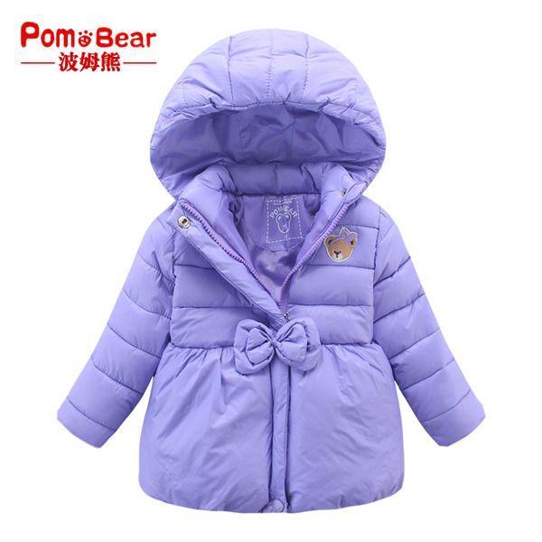 Детские куртки осень-зима из Китая :: Бом пальто 2015 новых зимних медведи, медведь девочек стеганый капюшоном ребенка теплой хлопок стеганые куртки пальто.