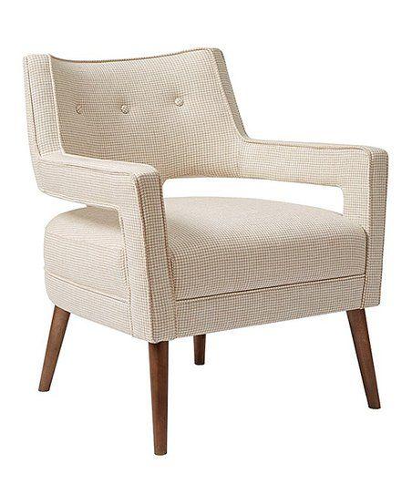 Cool Main Green Cream Open Arm Accent Chair Zulily Creativecarmelina Interior Chair Design Creativecarmelinacom