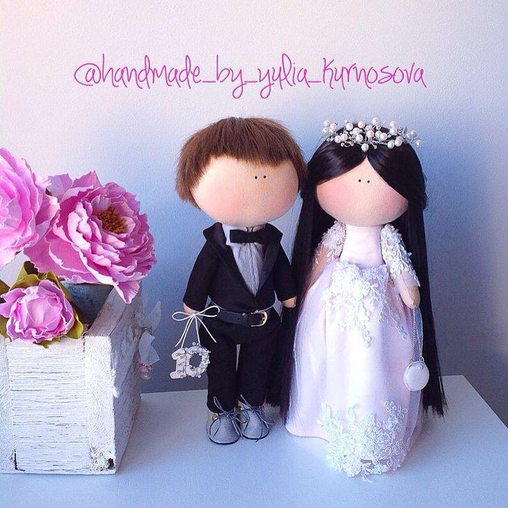 """91 Me gusta, 7 comentarios - @_candy__dolls_ en Instagram: """"У красивой пары сегодня Оловянная (розовая) свадьба!!!)))) 10 лет ))) 🌸🌸🌸🎀🎀🎀💞💞💞 #игрушкасдушой…"""""""