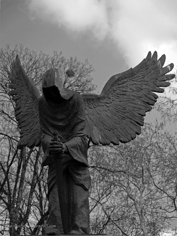 "Angel of Death by xartez /  by xartez ""In the great book of John - you're warned of the day When you'll be laid - beneath the cold clay The Angel of Death - will come from the sky And claim your poor soul - when the time comes to die."" - ""The Angel of Death"" by Hank Williams, Sr."