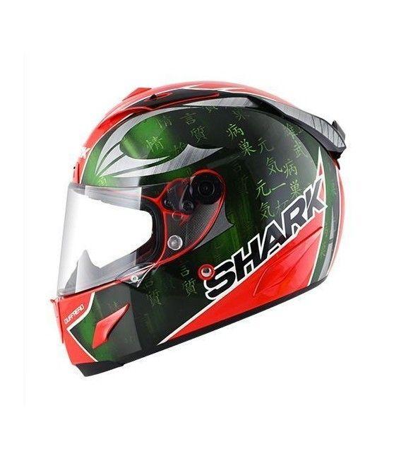 CASCO SHARK RACE-R PRO SYKES:  Fabricado en fibra de carbono, este casco de moto ha sido desarrollado como si de un casco de competición se tratara, para ofrecer una seguridad y tecnología del más alto nivel.
