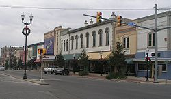 Fayetteville town Square...went there today and they have their Christmas light up!