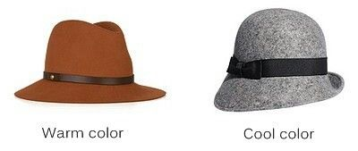 Hats according to skin tones