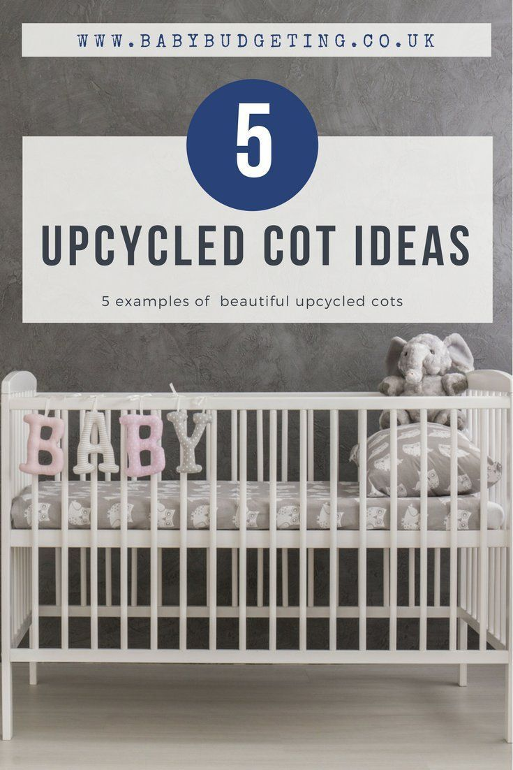 5 examples of a beautiful upcycled cots - a host of lovely ideas of thinsg you can do with your old cot  #upcycle #upcycling #recycled #upcycled