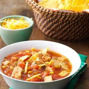 Southwestern Chicken Tortilla Soup