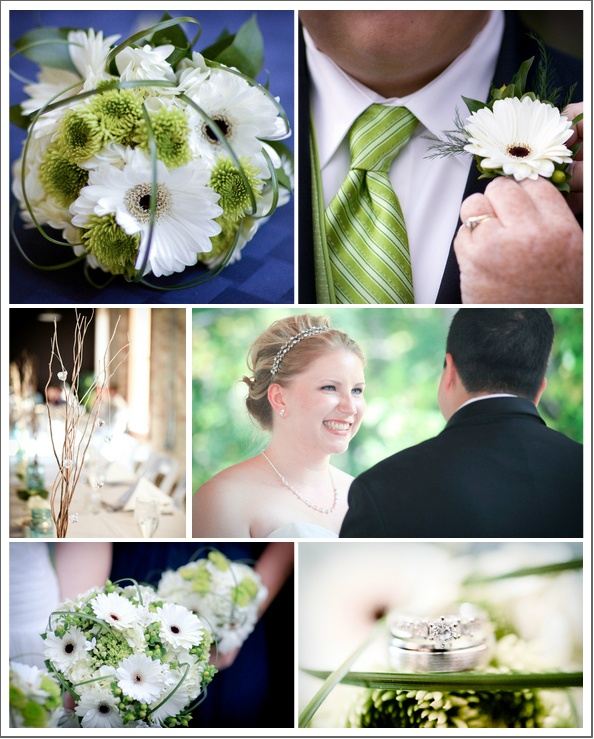 Gerber Daisies & button mums. Touch of green! Ok so I love love love this! For Mac's wedding!