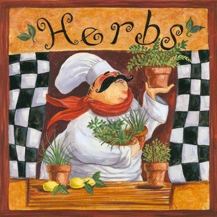 Checkered Chef Herbs by Geoff Allen