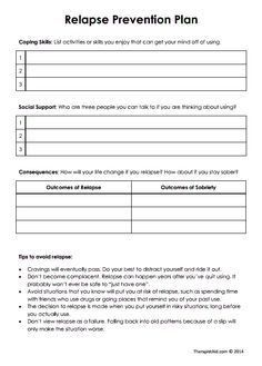 relapse prevention plan template templates