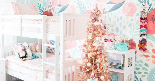Apartment Therapy On Twitter Christmas Decorations Living Room Kids Playroom Decor Girl Bedroom Designs A very pink christmas playroom