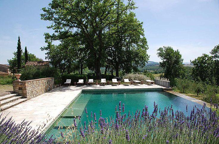 Luxury Chianti Villas Garden swimming pool, Tuscany