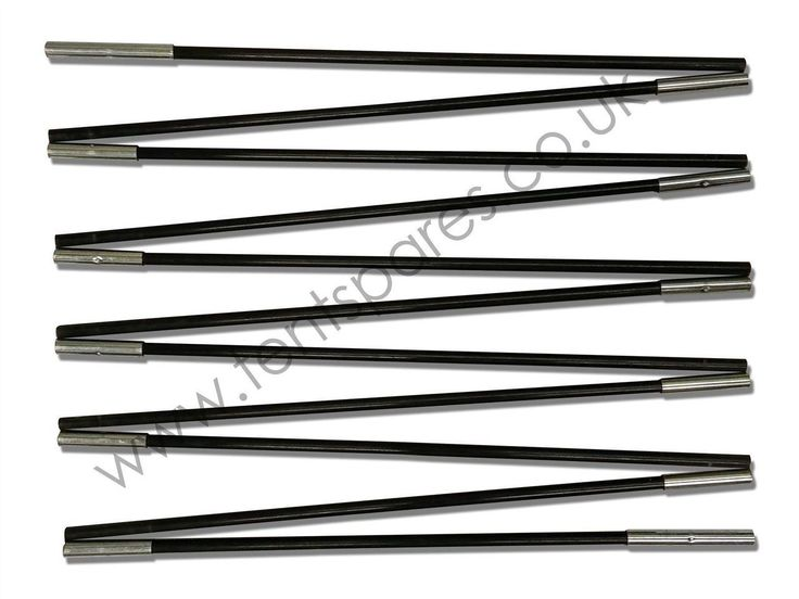 Hi Gear Atakama 5, Individual Black Coded Fibreglass Tent Pole Run 2011 Onwards - Tentspares Ltd