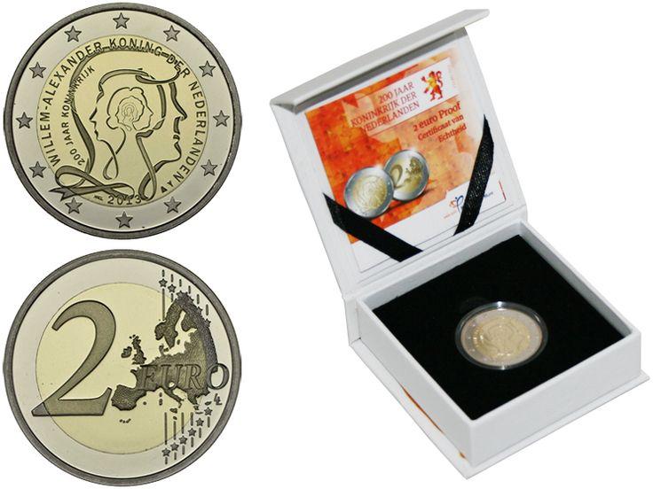 Нидерланды 2 евро, 2013 год. 200 лет королевству. Proof