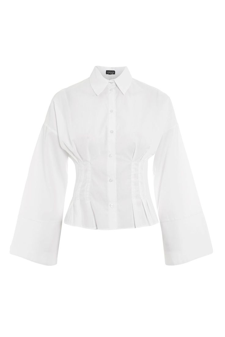 Tuck Waist Corset Shirt - New In Fashion - New In - Topshop http://rstyle.me/n/ctpa4nv7iw