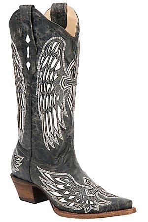 corral black singles Material: python belly on foot, leather upper design: black upper with white stitching shaft height: 12 inch toe style: round  sole: leather heel:&nbsp traditional western single stitch.