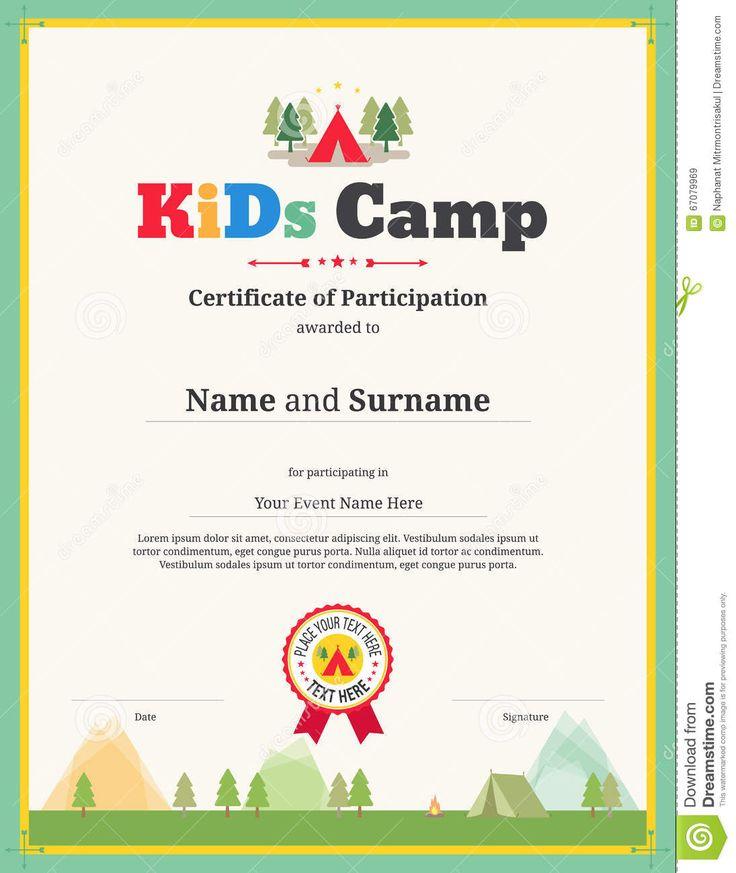 20+ beste ideeën over Certificate of participation template op - certificate of participation template word