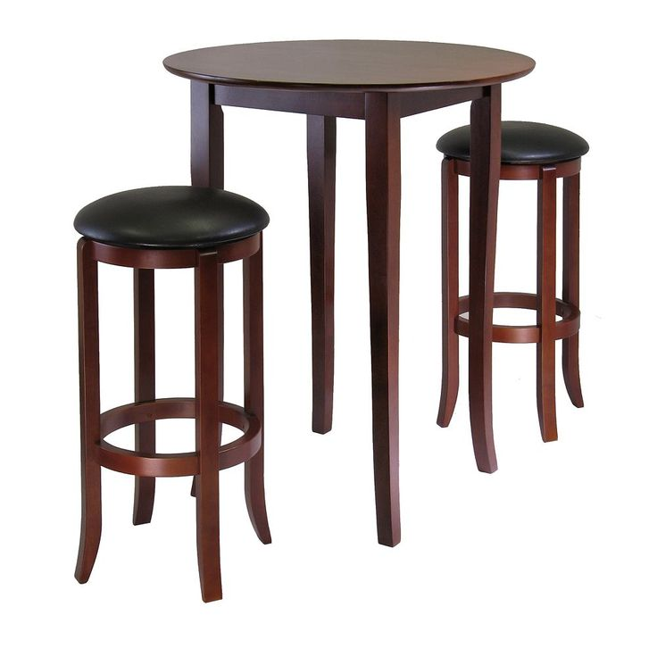 Winsome Fiona 3-pc. Round Table Set, Brown
