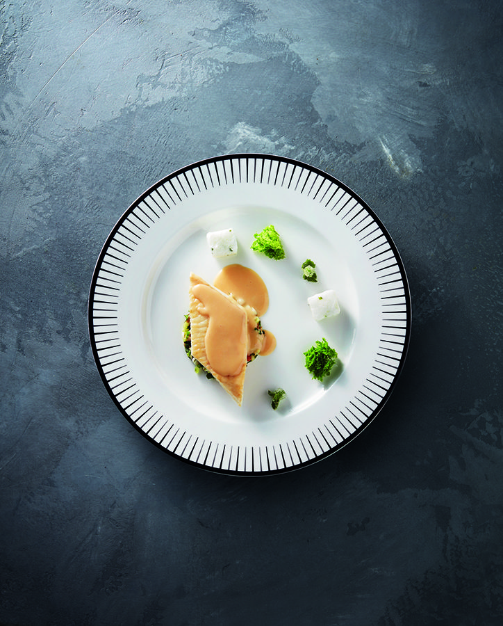 La sole by chef Marc Meurin at Le Château de Beaulieu (Pas-de-Calais, France). #relaischateaux