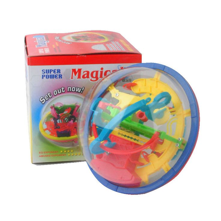 3D Magical Intellect Maze Ball Kids Amazing Balance Logic Ability Toys Learning & Educational IQ Trainer Game For Children