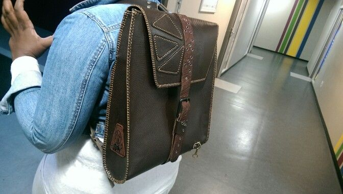 ROW hand made leather laptop back pack