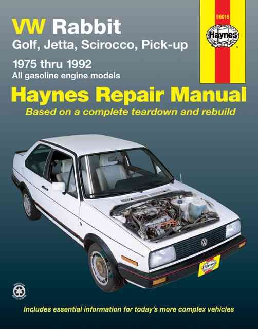 Vw Rabbit, Jetta, Scirocco and Pickup, 1975-1992: All Volkswagen Rabbit, Golf, Jetta, Scirocco and Pick-Up Models...