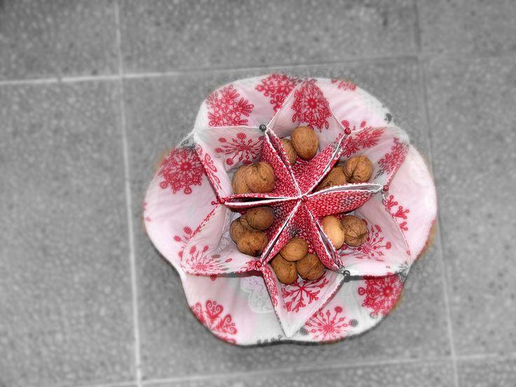 patchwork, star, basket