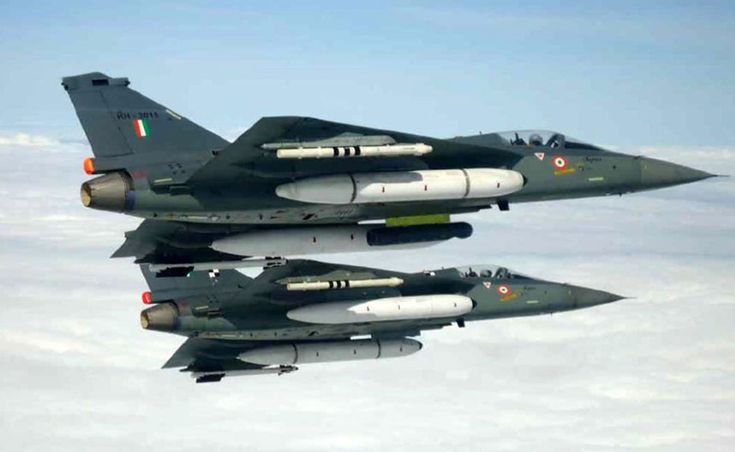 Two of the 15 pre-production Tejas jet fighters produced by HAL and used for test and evaluation. The LCA made its maiden flight on January 4, 2001. Photo: ADA