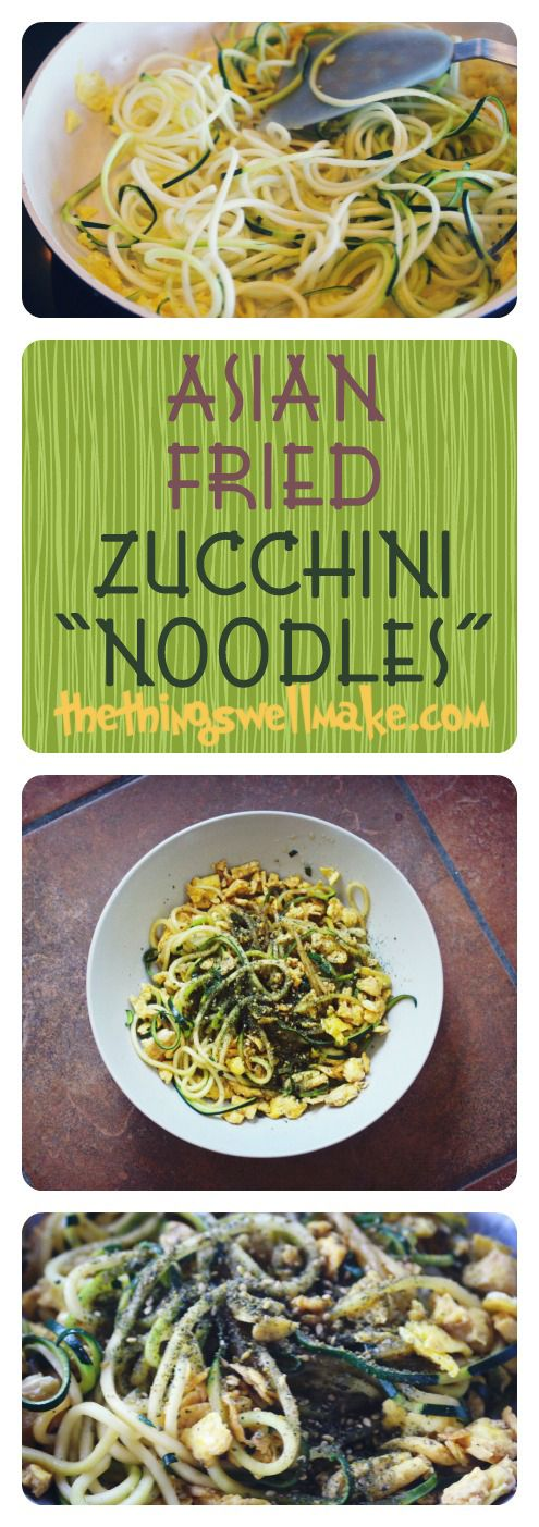 How to make quick & easy Asian inspired Zucchini Noodles with a vegetable spiralizer, perfect for grain free diets.
