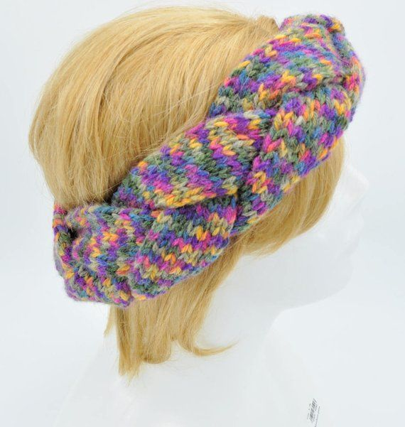 Colourful Plaited Headband Knitting Pattern