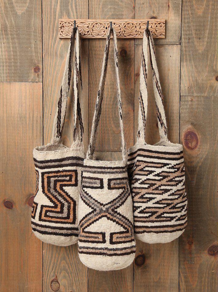 Pattern Mochila Woven Bucket Bags. Handmade in Columbia