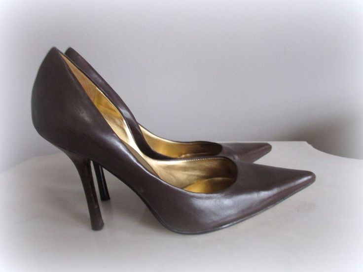 "GUESS by Marciano Womens Brown Pumps Heels Shoes Size 6.5M 4""HEEL #Marciano #Classic4heel"