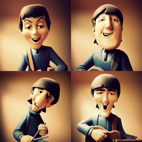Beatles Cartoon Action Figures