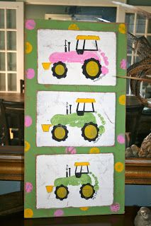 tractor footprint plaques!!!! This would be a good one for the Mount monkeys!