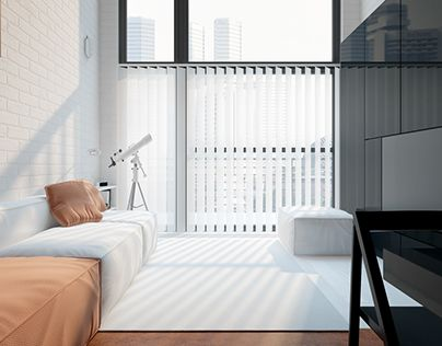 """Check out new work on my @Behance portfolio: """"Studio flat. Warsaw."""" http://on.be.net/1MhmG7M"""
