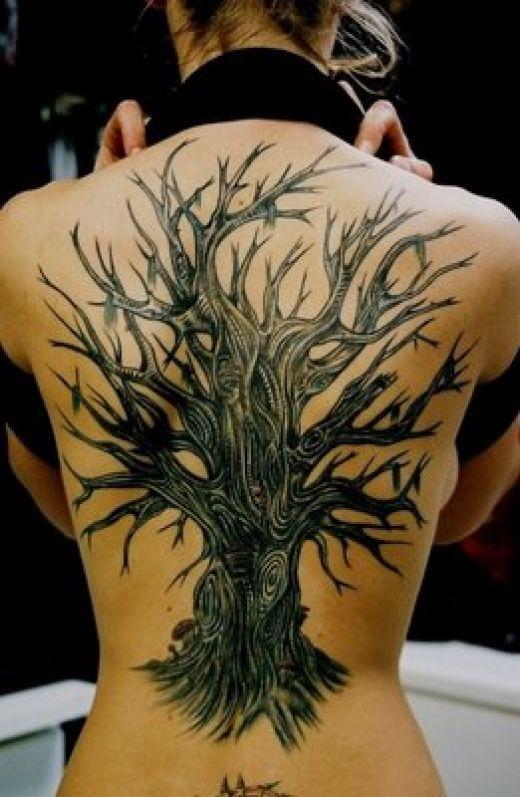 Tree Tattoos: Tattoo Ideas, Tree Tattoos, Treetattoo, Body Art, Back Tattoo, Trees, Tattoo'S, Ink