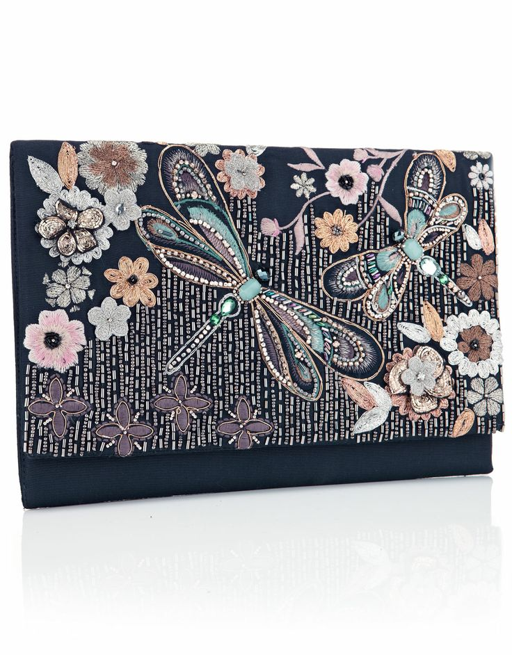 Dragonfly Embellished Clutch | Multi | Accessorize