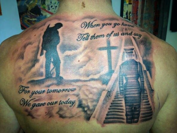 Great quote and love the stairway to heaven memorial for Tattoos in the british army