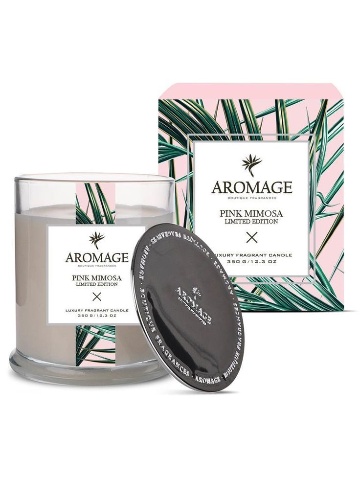 Aromage Luxury Fragrant Candle - Pink Mimosa
