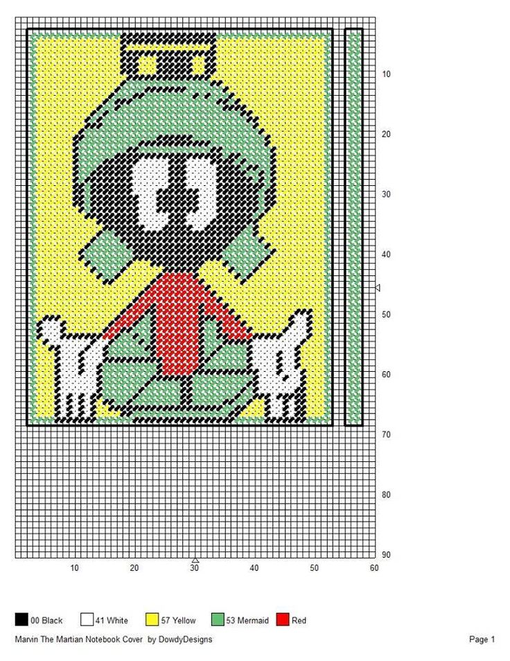 MARVIN THE MARTIAN NOTEBOOK COVER
